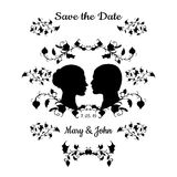 Save the Date Vintage Design Royalty Free Stock Photos