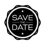 Save the Date vintage lettering Stock Images