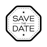 Save the Date vintage lettering Royalty Free Stock Image