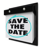 Save the Date - Wall Calendar Royalty Free Stock Images