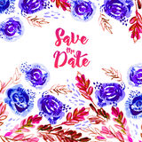 Save this date watercolor. Royalty Free Stock Images