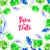 Save this date watercolor. Royalty Free Stock Photography