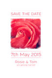 Save the date watercolour Stock Photo