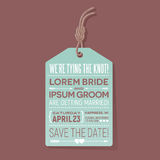 Save the date wedding card. typography design. Royalty Free Stock Photography