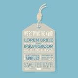 Save the date wedding card. typography design. Stock Photo