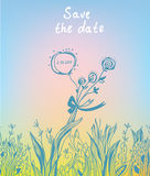 Save the date - wedding graphic invitation Stock Images