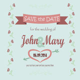 Save the date for the wedding. Illustration Save the date for wedding Royalty Free Stock Photography