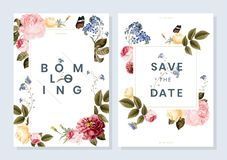Save the date wedding invitation vector illustration