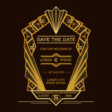 Save the Date - Wedding Invitation Card Stock Photos