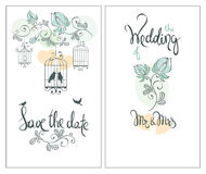 Save the date, wedding invitation card Royalty Free Stock Photo