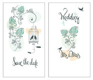 Save the date, wedding invitation card Stock Images