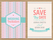 Save The Date, Wedding Invitation Card Stock Photo