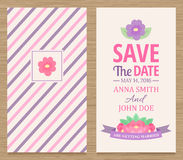 Save The Date, Wedding Invitation Card. Cute wedding invitation card , vector illustration Stock Photography
