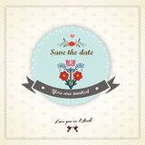 Save The Date, Wedding Invitation Card Stock Image