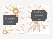 Save The Date Wedding Invitation Card Stock Image