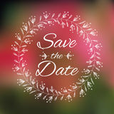 Save The Date Wedding invitation Card. Royalty Free Stock Photos