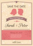 Save the date wedding invitation card Royalty Free Stock Photo