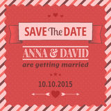 Save The Date, Wedding Invitation Card Royalty Free Stock Images