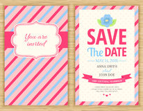 Save The Date, Wedding Invitation Card. Save The Date. Wedding Invitation Card, vector illustration Royalty Free Stock Photography