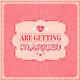 Save The Date, Wedding Invitation Card. Save The Date. Wedding Invitation Card, vector illustration Stock Photo