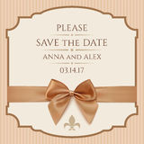 Save The Date, Wedding Invitation Card Royalty Free Stock Image