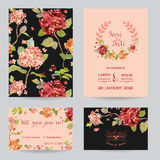Save the Date - Wedding Invitation or Congratulation Card Set Stock Images