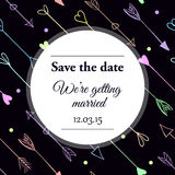 Save the date wedding invitation. Stock Images