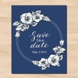 Save the date wedding invitation Stock Photos