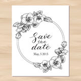 Save the date wedding invitation Royalty Free Stock Images