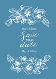 Save the date wedding invitation Stock Image