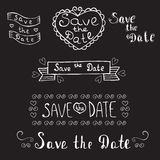 Save the date. Wedding invitation. Hand drawn romantic set. Vint Stock Photography