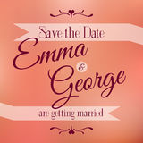 Save the date. Wedding invitation Stock Photo