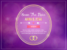 Save the date. Wedding invitation Stock Photos