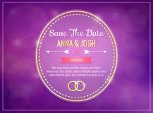 Save the date. Wedding invitation Stock Photos
