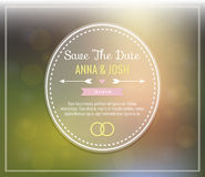 Save the date. Wedding invitation. On a soft bokeh background Royalty Free Stock Photography