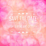 Save the date. Wedding invitation. On soft pink background Stock Image