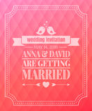 Save the date. Wedding invitation. On soft pink background Stock Photography