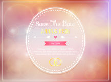 Save the date. Wedding invitation Royalty Free Stock Photos