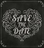 Save The Date, Wedding Invitation Vintage Typographic Design On Royalty Free Stock Image