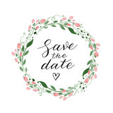 Save the date wedding invitation Stock Images