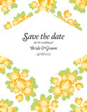 Save the date wedding invite card Royalty Free Stock Image
