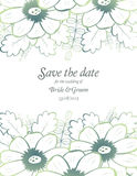 Save the date wedding invite card template Stock Image