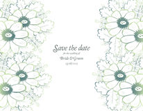 Save the date wedding invite card template Stock Photo