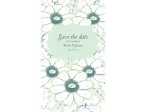 Save the date wedding invite card template Stock Photos