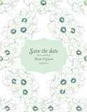 Save the date wedding invite card template Royalty Free Stock Photo