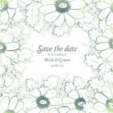 Save the date wedding invite card template Royalty Free Stock Images