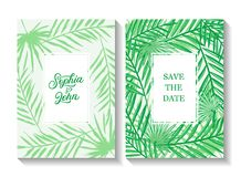 Save the date wedding invite Royalty Free Stock Photography