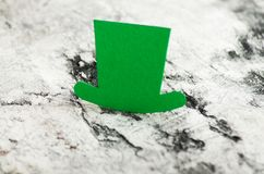 Save the date white block calendar for St Patrick`s Day, stock images