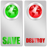 Save or destroy. The earth and its environment Royalty Free Stock Photography