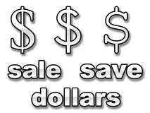 Save dollars Royalty Free Stock Images
